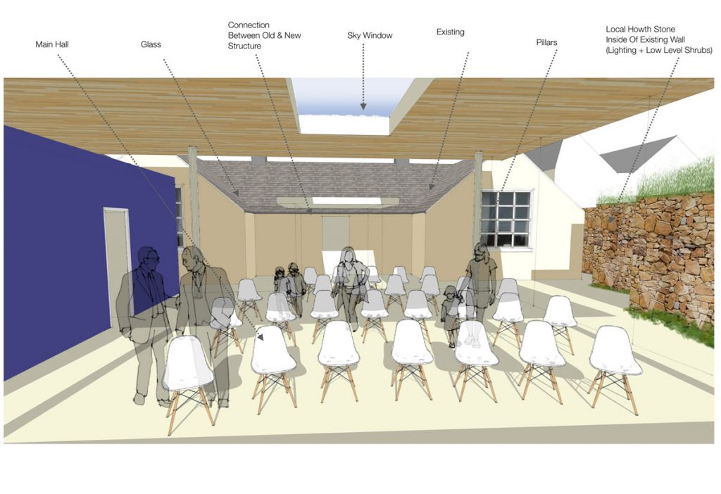 JDS Community Centre Extension Interior Design Rendering