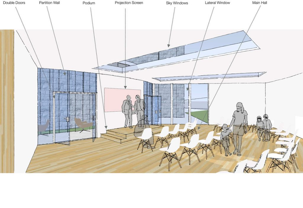 New Parish Centre Dublin Interior Architecture Rendering by Jennings Design Studio